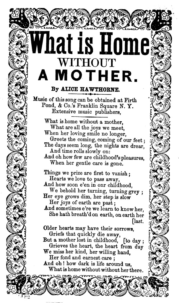 song sheet_what is home without a mother